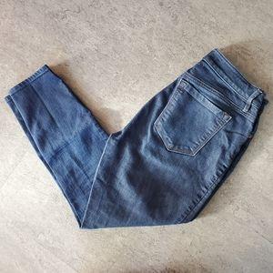 LOFT Curvy Highwaist Skinny Ankle Jeans